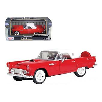 1956 Ford Thunderbird Red 1/24 Diecast Car Modelo por Motormax