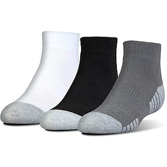 Under Armour Junior Heatgear Tech Lo Cut Socken 3-Pack Grau