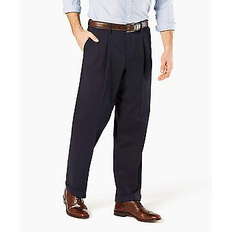 Dockers Men-apos;s Relaxed Fit Comfort Khaki Cuffed, Bleu, Taille 32W x 32L