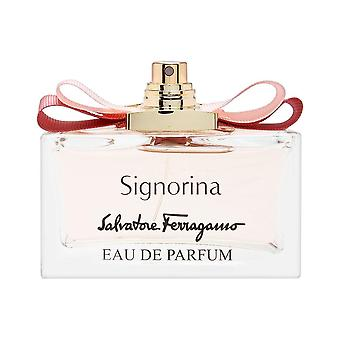 Signorina by Salvatore Ferragamo naisille 3,4 oz Eau de Parfum Spray (testeri ei korkki)