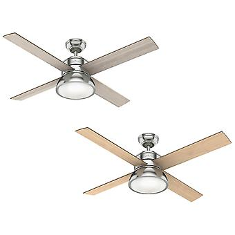 Ceiling fan Loki Nickel with light and remote