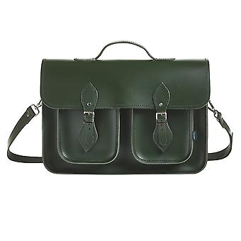Zatchels Executive Twin Pocket Handcrafted Leather Top Handle Satchel Bag (British Made)