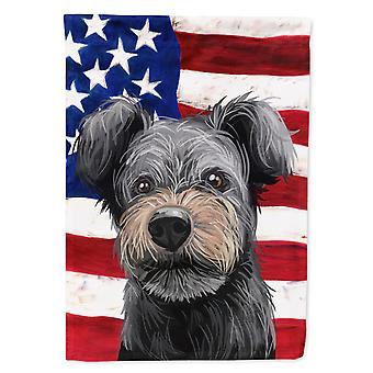 Carolines Treasures  CK6667GF Pumi Dog American Flag Flag Garden Size