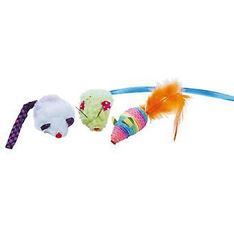 Gloria Pets Rainbow 3 hiiret Unds (Kissat , Lelut , Hiiret)