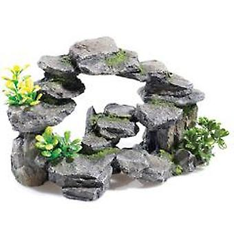 Classic For Pets Rocky Arch / Plants 265mm (Fish , Decoration , Rocks & Caves)