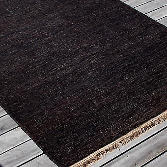 Sumace Hemp Rugs In Black By Massimo