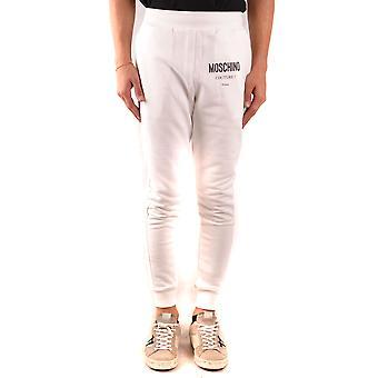 Moschino Ezbc015127 Men's White Cotton Joggers