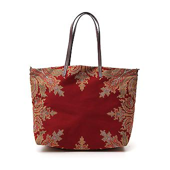 Etro 1i40958640600 Vrouwen's Red Cotton Tote