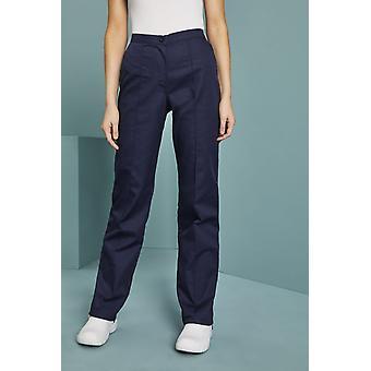 SIMON JERSEY Women's Flat Front Trousers, Navy