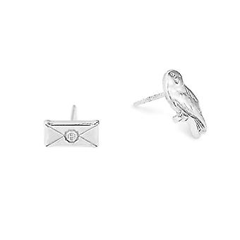 ALEX AND ANI Silver Women's Stud Earrings - AS18HP12S