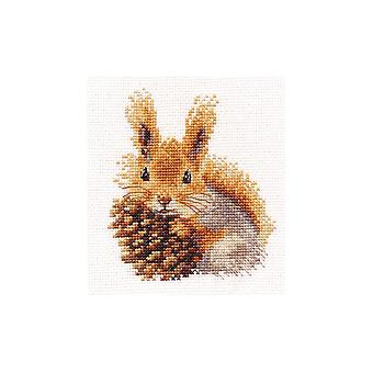Kit Alisa Cross Stitch - Esquilo e Pinheiro