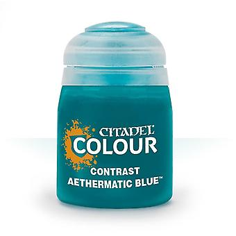 Contrast: Aethermatic Blue (18ml) ,Citadel Paint Contrast, Warhammer 40,000