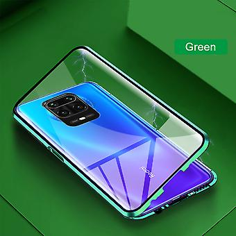 Double-sided 360 Degree Magnet / Glass Case Case Phone Case Bumper Green for Xiaomi Redmi Note 9S / 9 Pro