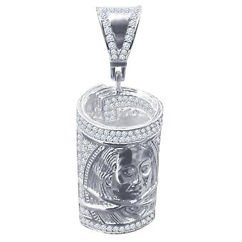 925 sterling silver micro pave pendants - DOLLAR Bill