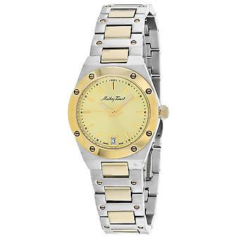 Mathey Tissot Women's Eliser Gold Dial Watch - D680BDI