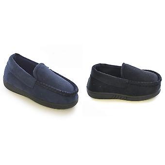 Childrens/Kids Boys Plain Loafer Slippers