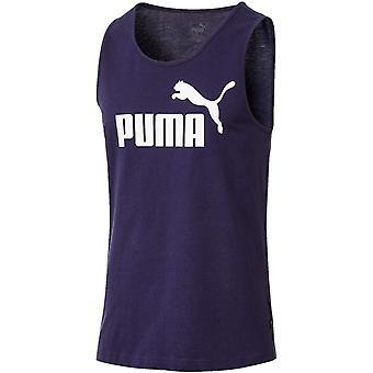 Puma Essentials Mens Sleeveless Summer Tank Top Singlet Vest Navy Blue