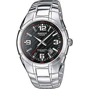 ساعة معصم كوارتز EF-125D-1AVEG (L x W x H) 48.60 × 40 × 9.90 ملم مواد الضميمة الفضية = مادة الفولاذ المقاوم للصدأ (حزام المراقبة)=كاسيو الفولاذ المقاوم للصدأ كاسيو