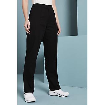 SIMON JERSEY Women's Flat Front Trousers, Black