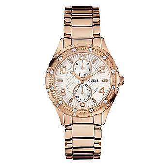 Denk u0442L3 Roestvrij stalen band Gouden Dames Horloge