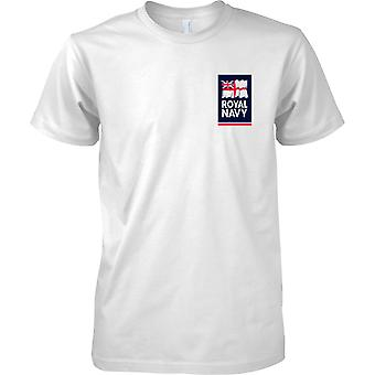 Königliche Marine Fahne Logo T-Shirt Farbe