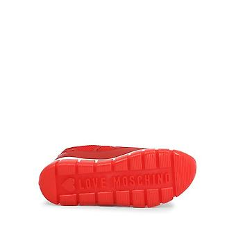 Love Moschino - Kengät - Tennarit - JA15225G0AJS_150A - NAISET - punainen,valkoinen - EU 35