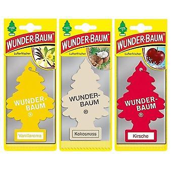 Duftender Wunder-Baum (Vanille + Kokos + Kirsche) 3-Pack
