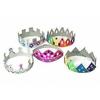 12 biała karta korona & Tiara blanki | Korony podejmowania rękodzieło dla dzieci