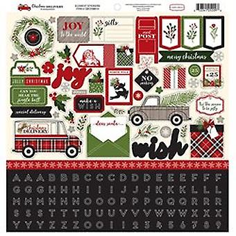 Carta Bella Christmas Delivery 12x12 Inch Element Sticker
