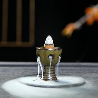 Kreativ hedmålning Mini Rökelse Censer Backflow Brännare