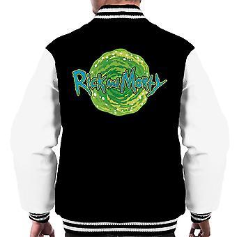 Rick ja Morty logo vastaan portaali miehet ' s Varsity takki
