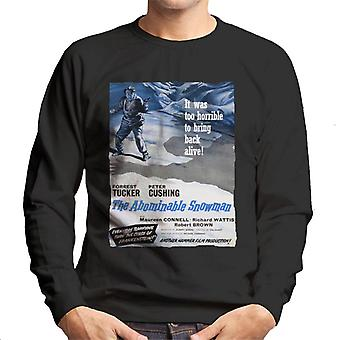 Hammer Horror Films Abominable Snowman 1957 Poster Men's Sweatshirt