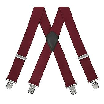 Unisex Braces Plain Colour Wide Heavy Duty Adjustable Suspender