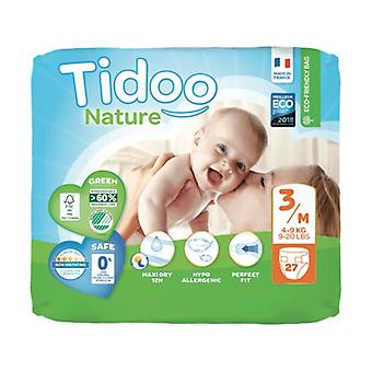 Diapers Size 3 Medium (4/9 kg) 27 units