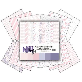 NHH Design All in One Girl Konfirmation 12x12 Inch Paper Pack