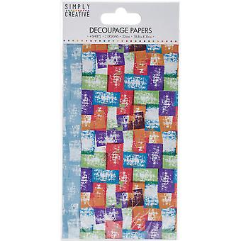 Simply Creative FSC Decoupage Paper - Coloured Blocks