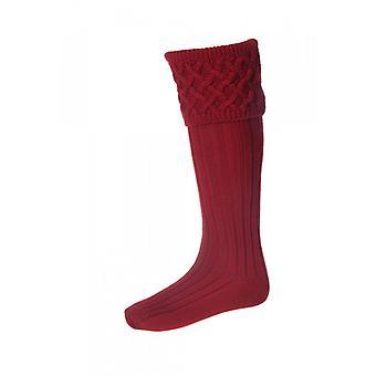 House of Cheviot Country Socks Rannoch ~ Brick Red