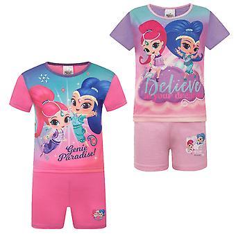 Shimmer And Shine Cadeau officiel Toddler Filles Pyjamas courts