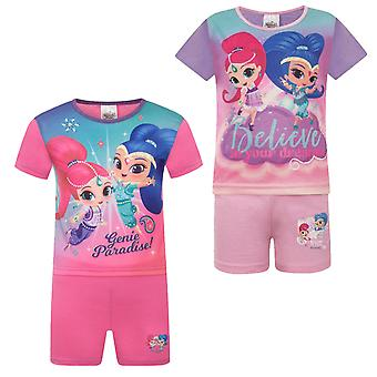 Shimmer And Shine Girls Pyjamas Short Toddler OFFICIAL Gift
