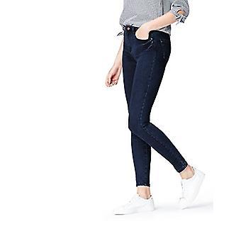 find. Women's Skinny Mid Rise Stretch Jeans, Blue (Deep Indigo), W32 x L32