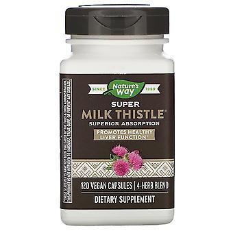 Nature-apos;s Way, Super Milk Thistle, 120 Capsules végétaliennes