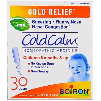 Boiron, ColdCalm, 30 Orala flytande doser, .034 fl oz Varje