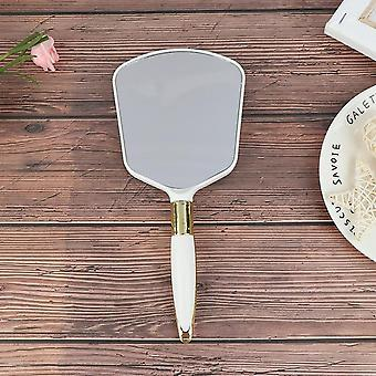 1pc Plastic Vintage Hand Mirrors, Makeup Vanity Mirror, Rectangle Main Hold