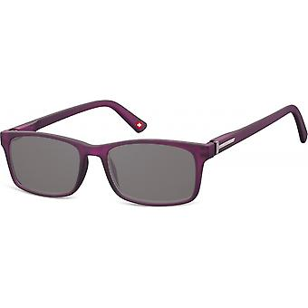 Sunglasses Unisex Rectangular Purple/Grey (MP25)