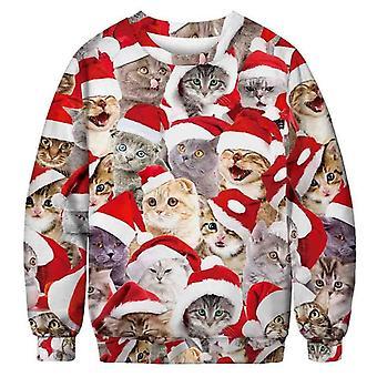 Kersttrui met katten - XL