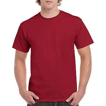 Gildan G5000 Plain Heavy Cotton T Shirt in Cardinal