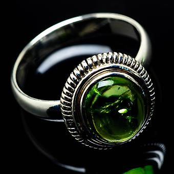 Peridot Ring Size 9.5 (925 Sterling Silver)  - Handmade Boho Vintage Jewelry RING24693