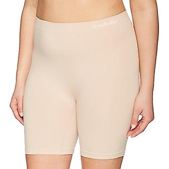 Marque - Arabella Women's Seamless Slip Short, 3 Pack,Sunbeige,X-Large