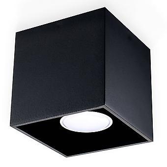 Sollux QUAD - 1 superficie ligera montada Downlight Negro, GU10