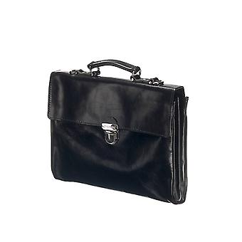 Leather Laptop Bag - The Walker - Black
